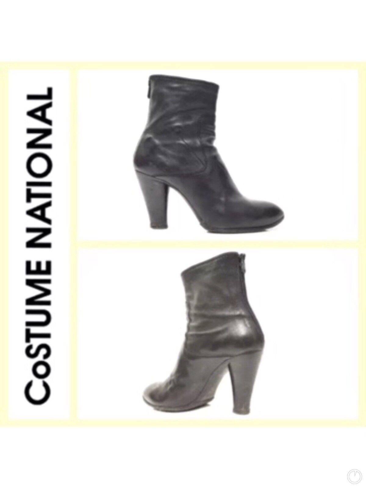 Costume National Women Black Short Boots SZ 40.5