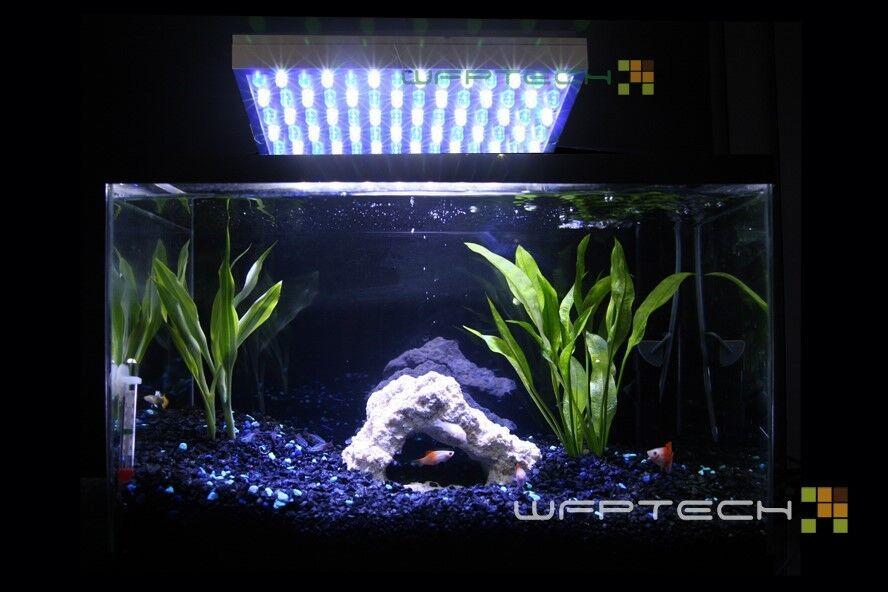 White blueee LED Aquarium Reef Coral Grow Light Panel 50W
