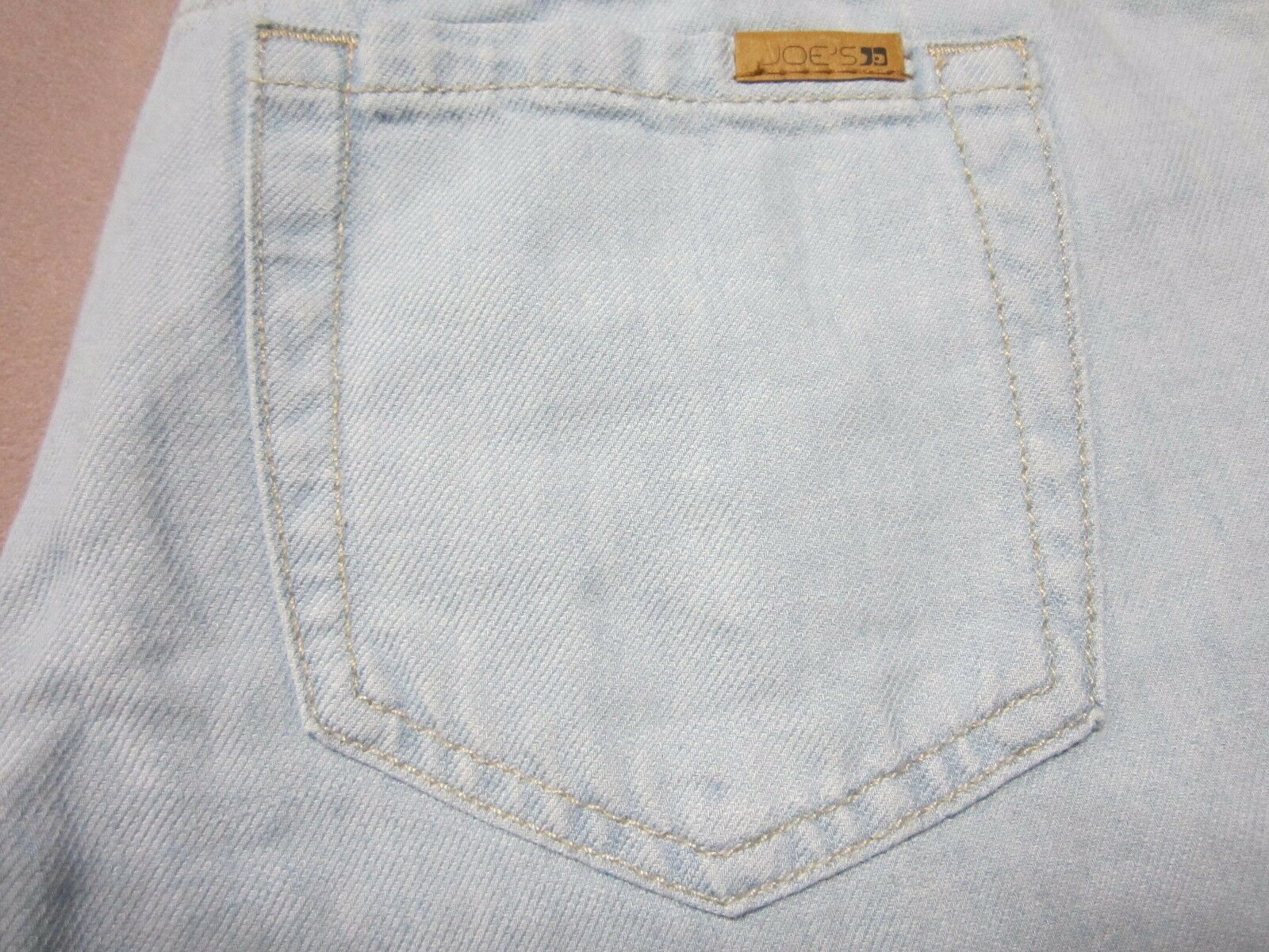 JOES JEANS WOMENS THE HIGH WATER SKINNY LINEN BLEND VENICE blueE JEANS SIZE 25