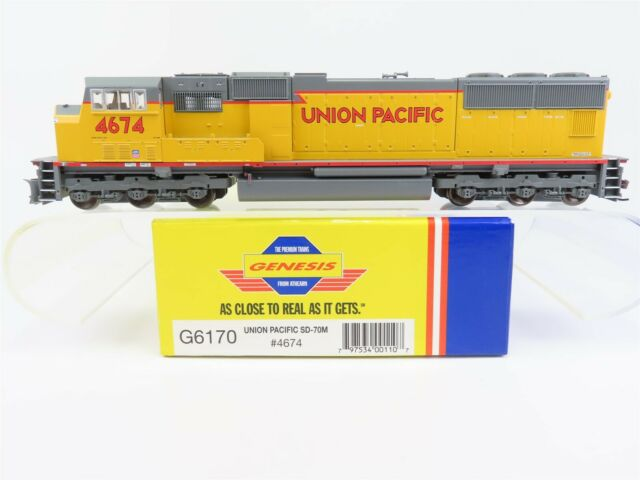 HO Scale Athearn Genesis G6170 UP Union Pacific SD70M Diesel Locomotive #4674