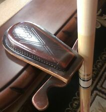 Leather Pool Cue Holder Holds 2 Cues Safely Won't Damage Shafts