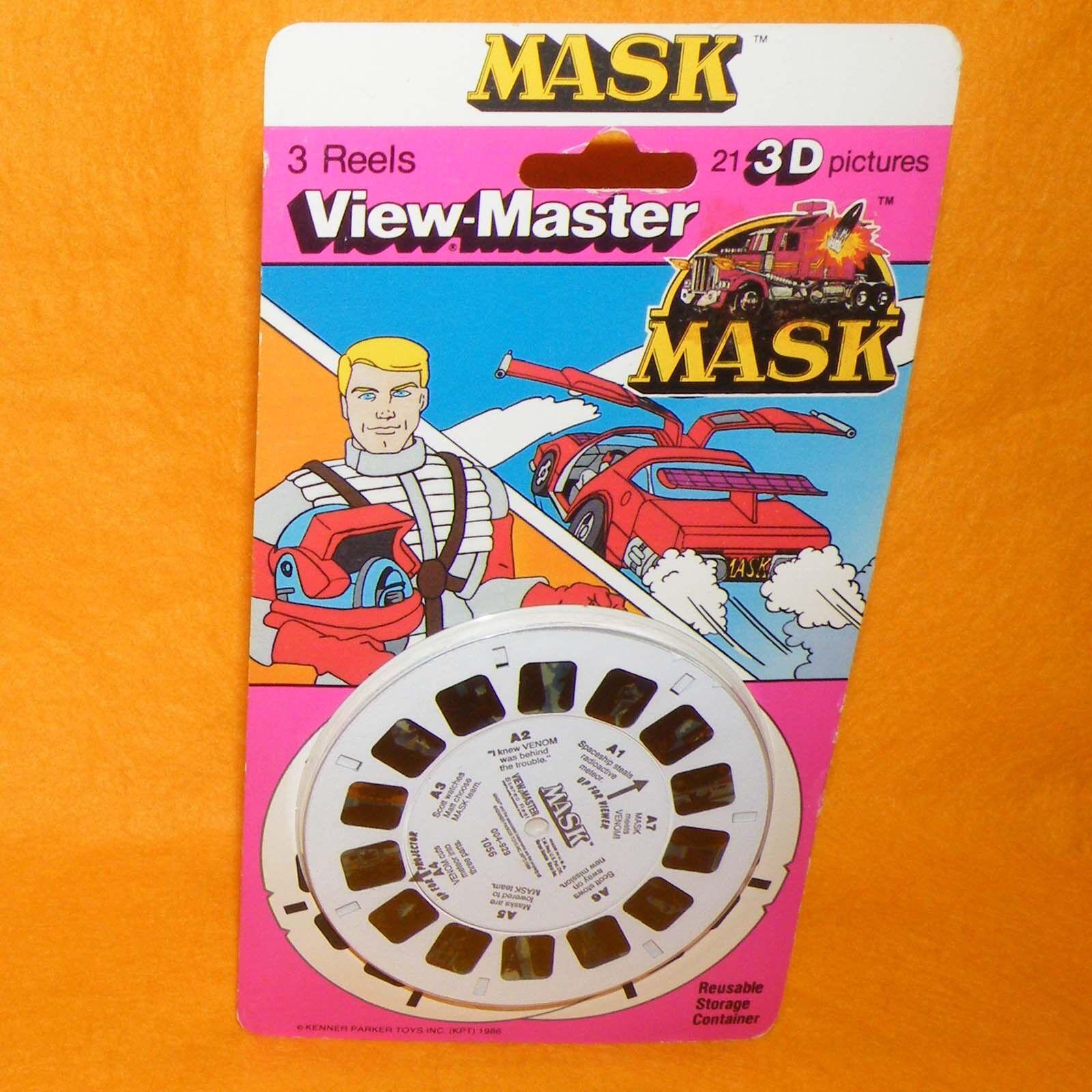 VINTAGE 1986 80s KENNER M.A.S.K MASK 3D VIEW-MASTER REELS MOC CARDED SEALED