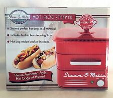 Hot Dog Steamer Red - Retro Kitchen Grill Cooker Portable Steam-o-Matic NIB!!