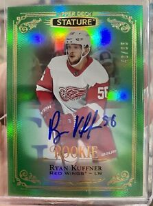 2019-20-STATURE-RYAN-KUFFNER-AUTO-ROOKIE-GREEN-85-DETROIT-RED-WINGS-130