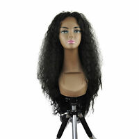20-26 Front Lace Wigs Loose Wave Synthetic Ombre Piano T Color Full Black 1b
