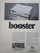 1/1972 PUB MOTOROLA ELECTRONICS CM-1680 UHF LINEAR AMPLIFIER ORIGINAL AD
