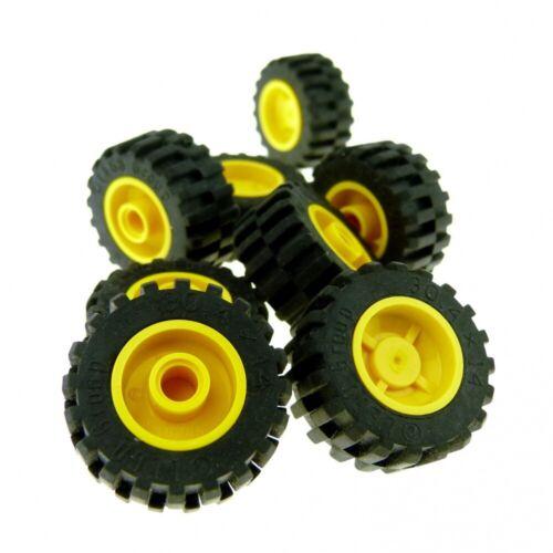 x 14mm 30.4 x 14 Reifen Felge Tec 8 x Lego System Rad schwarz gelb Räder 18mm D