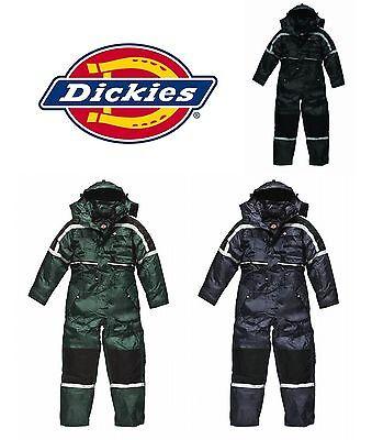Dickies Impermeabile Imbottita Complessivo Tuta Intera Da Pesca Biker Agricoltore Suit Wp15000-mostra Il Titolo Originale