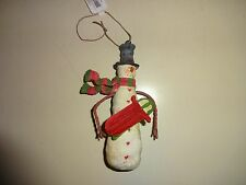 Yankee Candle 2014 Christmas Snowman With Sled Ornament NIB