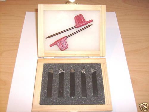 Drehmeißelsatz Wendeplatten 10x10, 5-teilig HM turning tool set 3/8