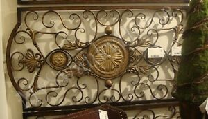 """Extra Large 42"""" IRON SCROLL Wall Plaque Grille Overdoor ..."""