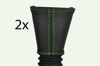 green stitch FITS VAUXHALL OPEL TIGRA CORSA B  93-00 2X FRONT SEAT BELT COVERS