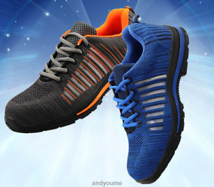 Mens-Work-Safety-Shoes-Breathable-Outdoor-Steel-Toe-Footwear-Industrial-Shoes