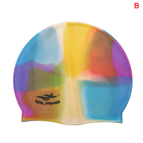 Adult Flexible Durable Silicone Elasticity Swim Cap Swimming Hat For Women Men