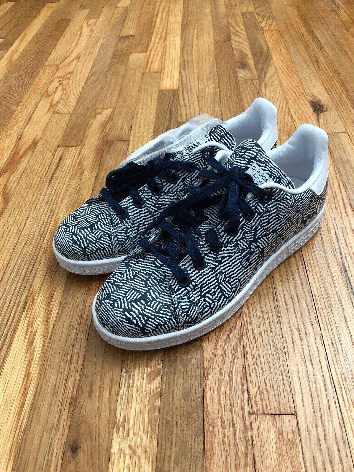 New Adidas Rare Stan Stan Stan Smith Women's shoes Zebra Print White Navy Size 6 RARE 6b25c8