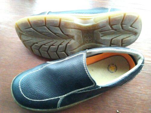 DOC MARTINS- mens size12 black slip on shoes
