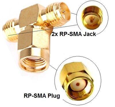 Adattatore Antenna Splitter Rp-sma Wlan Pezzi Y-distributore T-pezzo Pigtail Ipx Nuovo- Le Materie Prime Sono Disponibili Senza Restrizioni