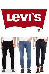 Levis-510-Jeans-Skinny-Fit-Mens-Levi-039-s-Denim-Rinsed-Dark-Blue-Black