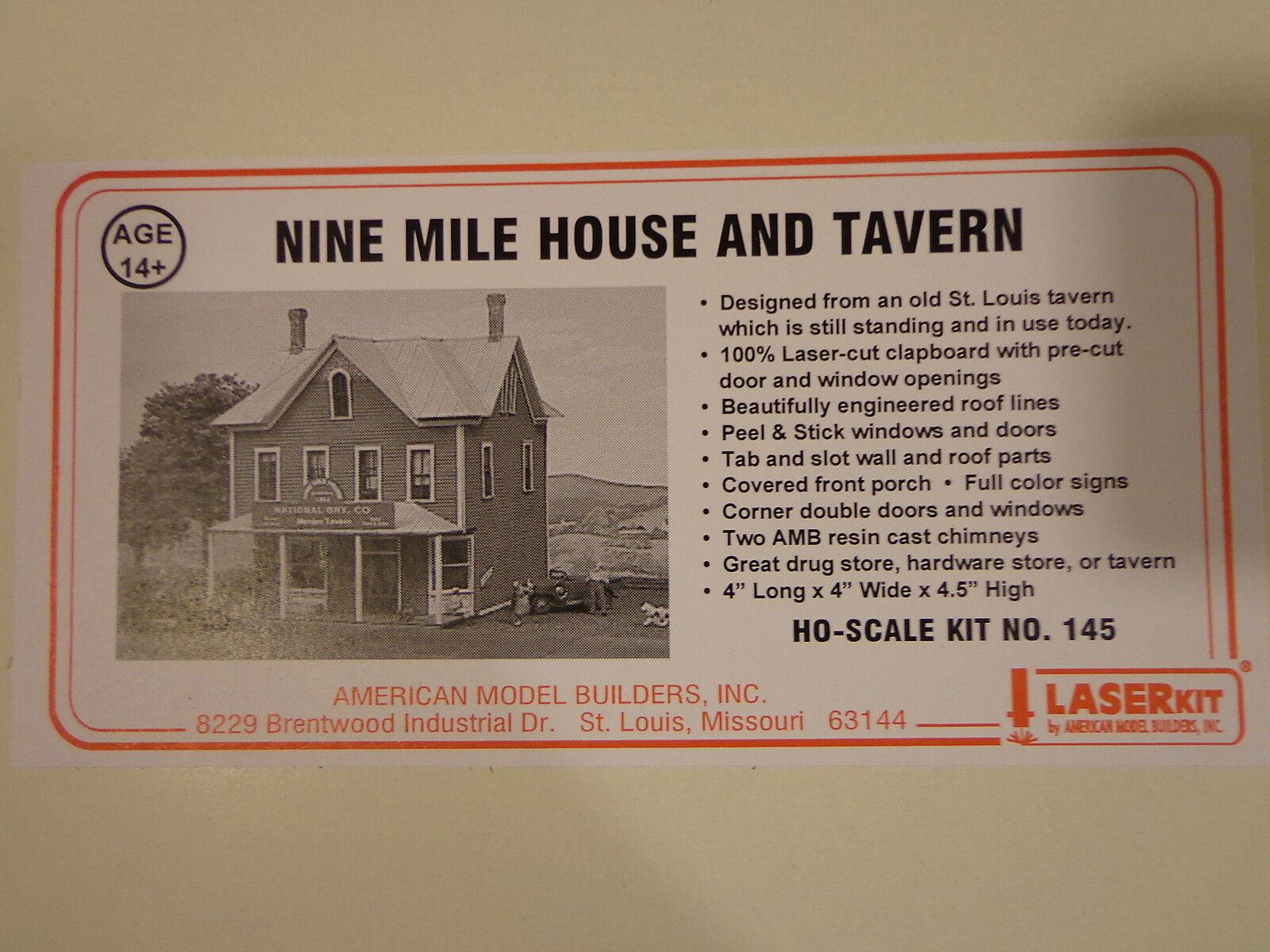 American Model Builders, Inc HO Nine Mile House And Tavern (LaserKit) NEW