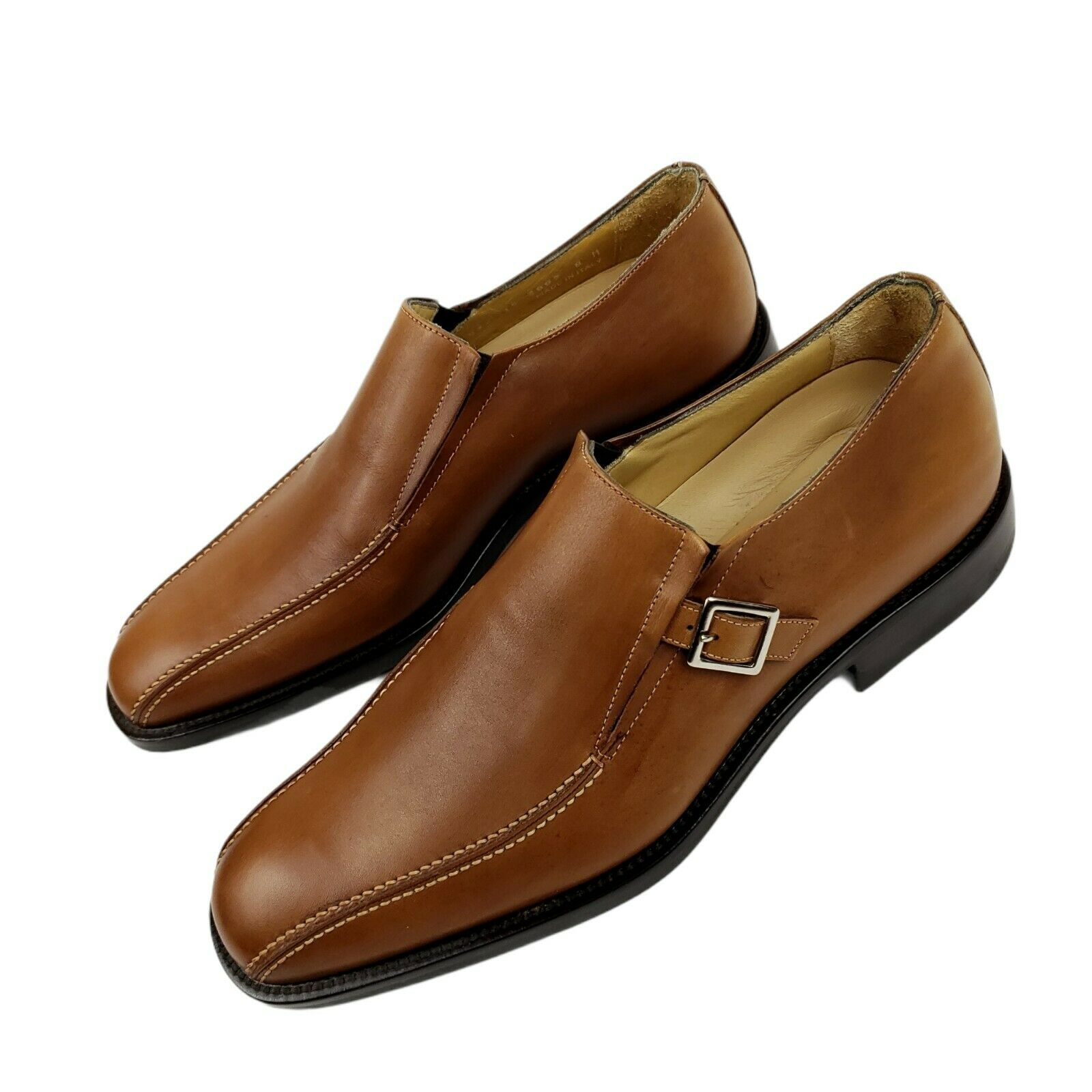 JOHNSTON & MURPHY Signature Series Brown Dress Shoes Monk Strap Loafers 8 M