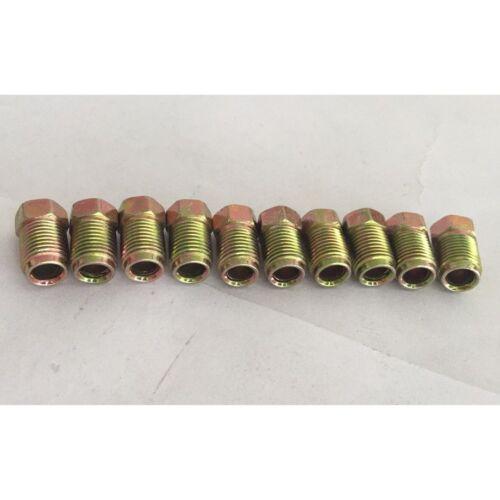 10PSC 10mmx1mm Short Male Brake Pipe Nuts Screw for 3//16/'/' Braking Steel Tubes
