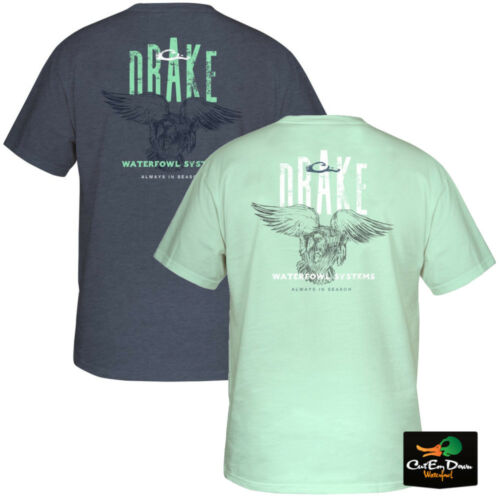 NEW DRAKE WATERFOWL SYSTEMS COMMITTED MALLARD LOGO S//S T-SHIRT TEE