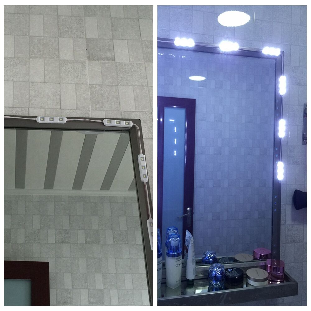 Vanity Lights With Dimmer : super white 30leds 5ft Lighted Cosmetic Makeup Vanity Mirror light+Dimmer+power eBay