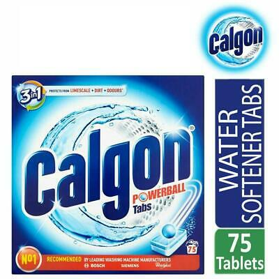 Calgon Powerball 3-in-1 Washing Machine Water Softener 75 Tablets