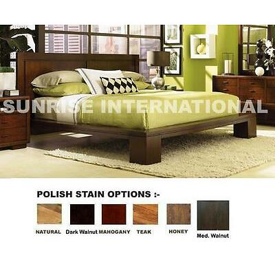 Sunrise 5 pc Wooden Bedroom Set -1  King Double Bed ,2 bedside,1 dresser,1 frame