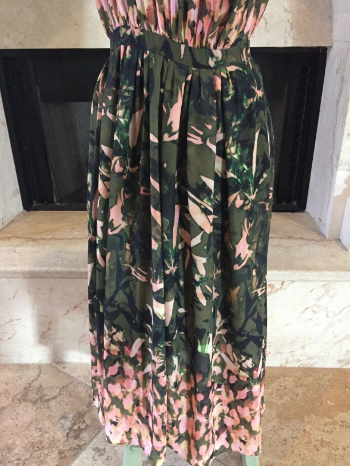 NWT 148 148 148 Catherine Malandrino Floral fit and flare long  Dress  (Size 6) b100b4