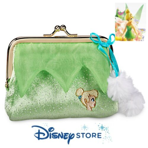 Disney Store NEW Tinkerbell Tinker Bell Change Coin Purse Snap Top Closure Girls