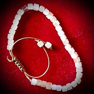 Bohemian Bracelet Crystal Stone Bead Macrame Healing Ethnic Tibet Reiki Women UK