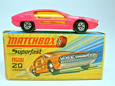 Matchbox SF Nr.20A Lamborghini Marzal hot pink dünne Räder top in Box