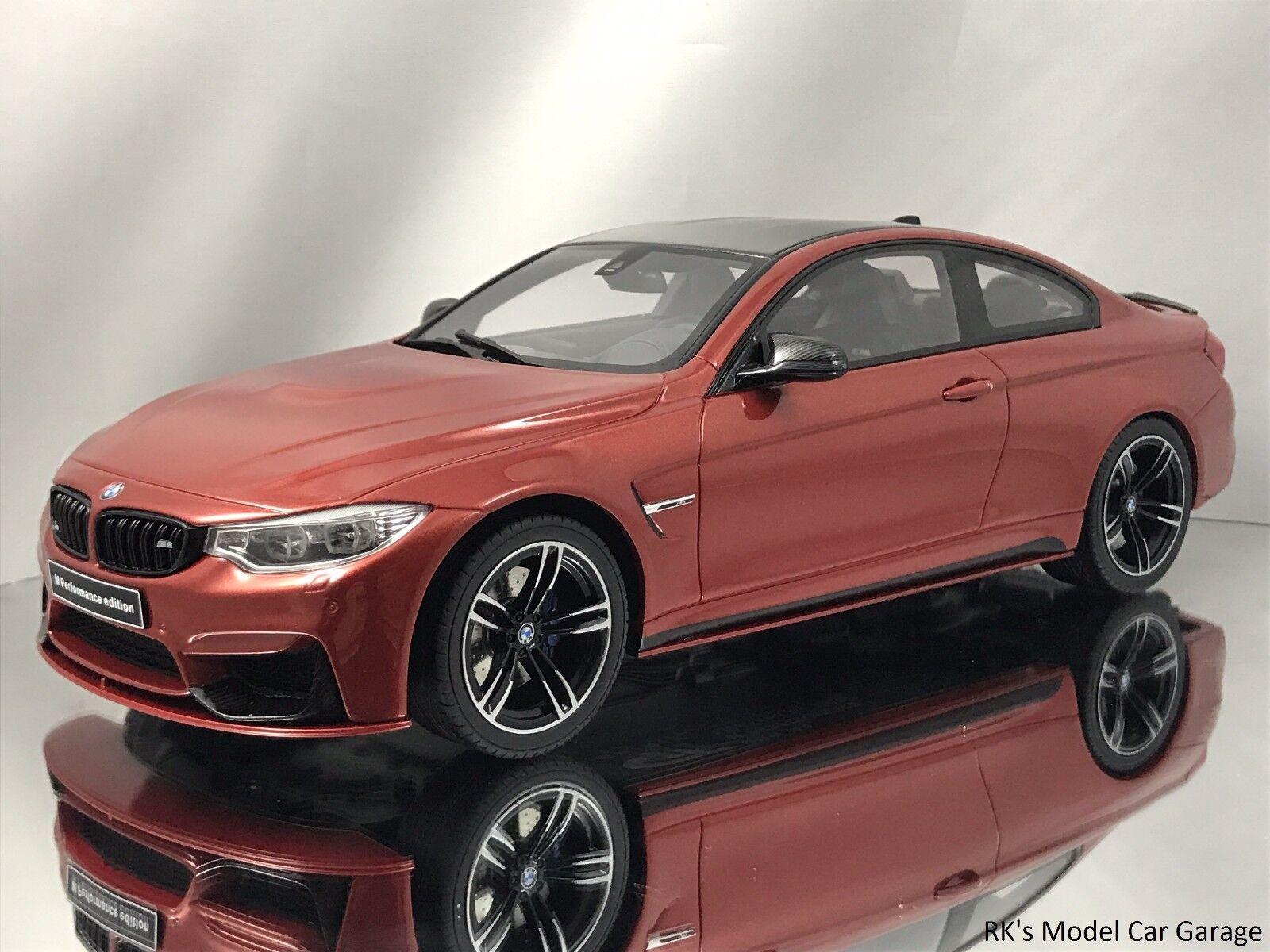 Centro comercial profesional integrado en línea. GT GT GT Spirit BMW M4 F82 Coupe M Rendimiento Metálico Naranja Resina Modelo de Auto 1 18  suministro de productos de calidad