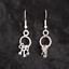 bunch of keys earrings in silver or antique brass Keys fairytale