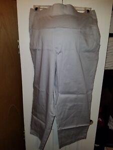 f34a4c0009c12 3X New PLUS Size DUO Maternity Gray/Grey Capri Pants 3X | eBay