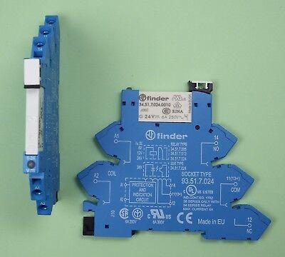 ⚠️ Finder Industrie Koppel Relais 24V DC 1 Wechsler 16A /> 48.61.7.024.0050 ⚠️