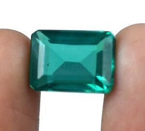 100% Natural 10.70 Ct Emerald Cut Colombian Emerald Gemstone Certified A21576