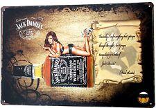 JACK DANIELS NR. 7 M/FRANK SINATRA METALLDOSE ZEICHEN kneipe bar garage