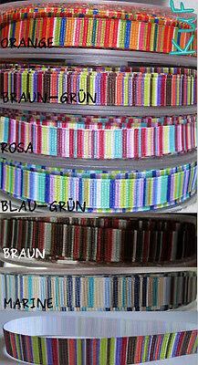 1 m Ripsband 10 mm Streifen Borte DeKo Band