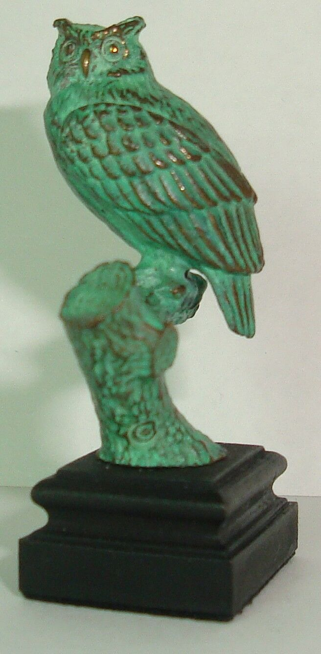 Daniel Phillip Kronberg Dollhouse Mini Bronze Night Watchman Owl Sculpture  2
