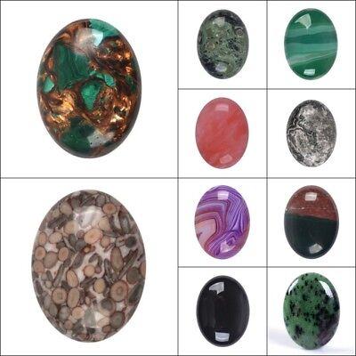 30MM Large Round cabochon CAB flatback semi-precious gemstone Pick ur stone