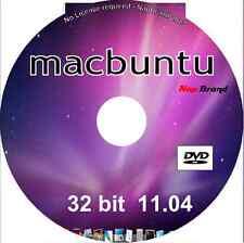Macbuntu 11.04 OS X MAC lookalike O / S 32 BIT DVD Linux eseguire in memoria o installare