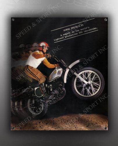 VINTAGE HONDA /'HONDA PROJECT II/' MOTORCYCLE BANNER