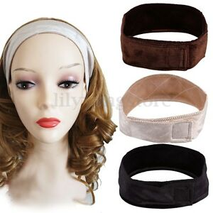 Women Velvet Wig Grip Adjustable Fastern Head Hair Band WiGrip Fit All Heads