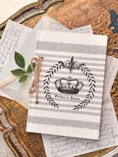 Shabby Cottage Chic Black White French Vintage Style Blank Notebook Diary CUTE