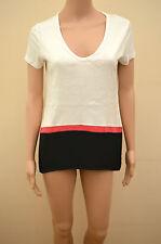 New Next Petite White Pink Black Sequin Tunic Top Sz UK 8