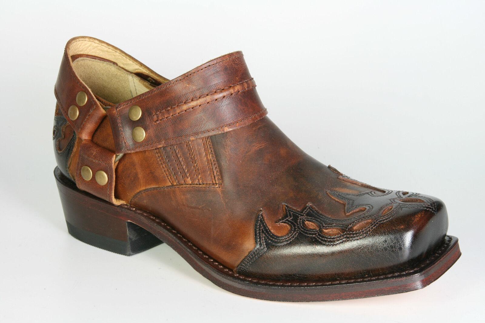 6077 Sendra Biker Biker Biker zapatos con llama britnes marrón botas motorista zapatos marrón 6db4f2