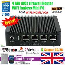 Intel quad Core J1900 4LAN 3/4G RADIO WiFi NICs fanless Min PC pfSense Firewall