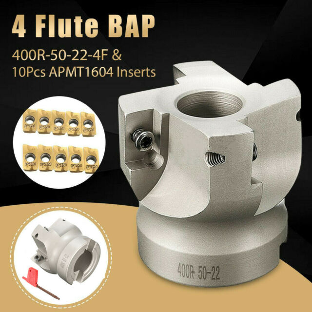 4 Flute 400R-50mm-22 Face End Mill Endmill Facing CNC Milling Cutter